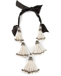Lanvin | White Pearl Necklace | Lyst