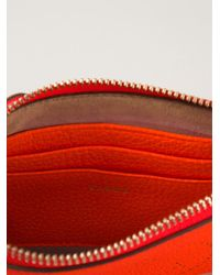 Anya Hindmarch - Orange 'Smiley Georgiana' Clutch - Lyst