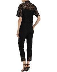 Erdem - Black Vala Cotton-Blend Lace Jumpsuit - Lyst