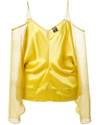 Jean Paul Gaultier | Yellow Off-shoulder Blouse | Lyst
