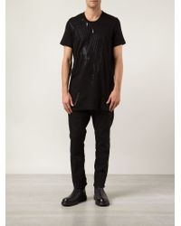 Julius - Black Abstract Print T-shirt for Men - Lyst