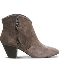 Ash | Brown Jess Zipped Suede Boots | Lyst