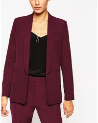 ASOS | Purple Petite Premium Tailored Blazer | Lyst