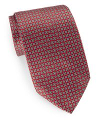 Burma Bibas | Red Neat Floral Silk Tie & Gift Box for Men | Lyst
