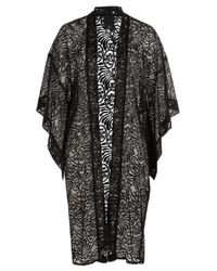 Anna Sui - Black Embroidered Kimono - Lyst