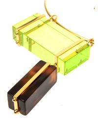 Fendi - Yellow Colour-Block Necklace - Lyst