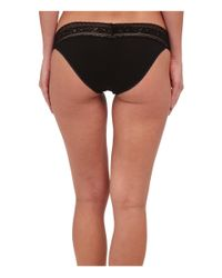 Calvin Klein | Black Cotton W/ Lace Bikini | Lyst