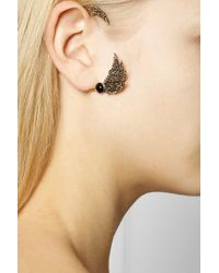 Pamela Love - Metallic Feather Goldtone Onyx Ear Cuff - Lyst