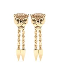 Roberto Cavalli - Metallic Gold-Plated Clip-On Earrings - Lyst