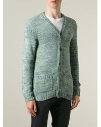 Julien David   Green Knit Cardigan for Men   Lyst