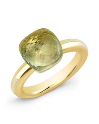 Anne Sisteron | 14kt Yellow Gold Green Amethyst Ring | Lyst