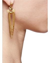 Ela Stone | Metallic Gwen Chain Tassel Earrings | Lyst
