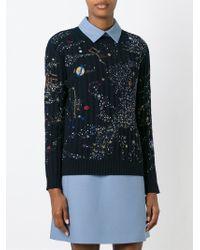 Valentino - Black 'cosmo' Sweater - Lyst