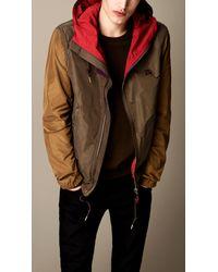 Burberry - Natural Colour Block Showerproof Jacket for Men - Lyst