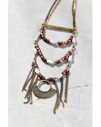 Urban Outfitters - Metallic Summer Daze Statement Necklace - Lyst