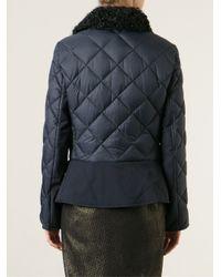 Ferragamo - Blue Quilted Jacket - Lyst