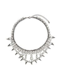 Nasty Gal | Metallic Ice Ice Baby Necklace | Lyst