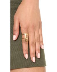 Pamela Love - Metallic Cross Ring - Lyst