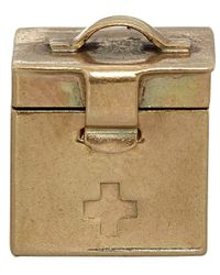 Annina Vogel - Metallic Vintage Gold First Aid Kit Charm - Lyst