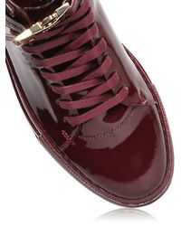 Buscemi | Purple Clip Patent Leather High Top Sneakers | Lyst