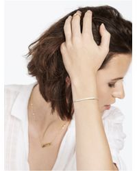 BaubleBar | Metallic Bar Nameplate Bracelet - Gold | Lyst
