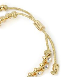 Juicy Couture | Metallic Rhinestone Friendship Bracelet | Lyst