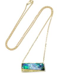 Brooke Gregson | Metallic 18-karat Gold, Opal And Diamond Necklace | Lyst