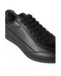 BOSS Black Leather Sneakers: 'fult' for men