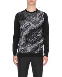 John Smedley | Black Lithic Waves Wool Jumper for Men | Lyst