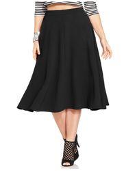Jessica Simpson - Black Plus Size Mirabel A-Line Midi Skirt - Lyst