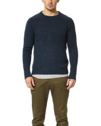 Gant Rugger | Blue The Shetland Sweater for Men | Lyst