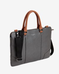 Ted Baker | Black Contrast Handle Document Bag for Men | Lyst