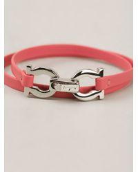 Ferragamo - Red Bracelet - Lyst