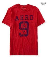 Aéropostale | Red Aero Ny 9 Logo Graphic T | Lyst
