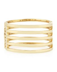 Kenneth Jay Lane | Metallic 22k Gold-plated 5-row Cuff Bracelet | Lyst