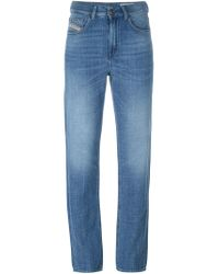 DIESEL - Blue High Waisted Jeans - Lyst