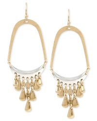 Kenneth Cole | Metallic Two-tone Shaky Drop Earrings | Lyst