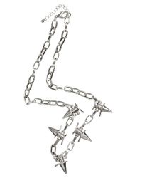 ASOS - Metallic Necklace With Spike Barbed Wire for Men - Lyst