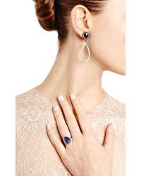 Eva Fehren | Zoe Ring in 18k Blackened White Gold with Bluegrey Sapphire White Diamond Pave | Lyst