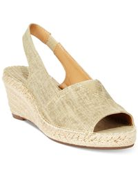 Clarks - Natural Artisan Women's Petrina Rhea Espadrille Wedge Sandals - Lyst