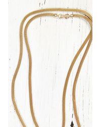 Free People - Metallic Vintage Gold Mesh Chain Necklace - Lyst
