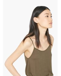 Mango - Natural Flowy Top - Lyst