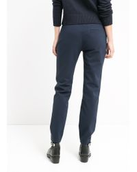 Mango - Blue Zip Cotton Trousers - Lyst