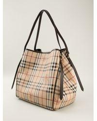 Burberry - Brown Haymarket Check Shoulder Bag - Lyst