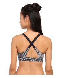 Under Armour | Black Eclipse Printed Bra | Lyst