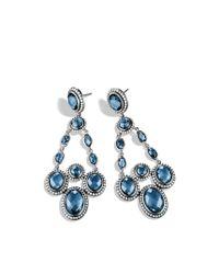 David Yurman - Renaissance Chandelier Earrings with Hampton Blue Topaz - Lyst