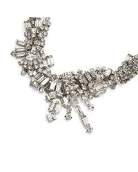 Tom Binns - Metallic White Crystal Tangled Necklace - Lyst