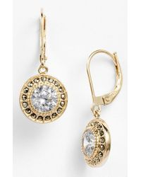 Judith Jack | Metallic Marcasite & Cubic Zirconia Drop Earrings | Lyst
