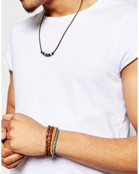 ASOS | Brown Beaded Necklace And Bracelet Pack for Men | Lyst
