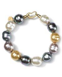 Majorica - Multicolor Multi Pearl Bracelet 14mm - Lyst